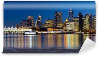 Fotomural Estándar Vancouver BC horizonte de la ciudad Reflexión