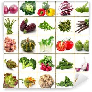 Fotomural Estándar Verduras collage