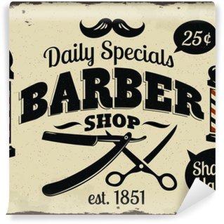 Fotomural Estándar Vintage Styled Barber Shop