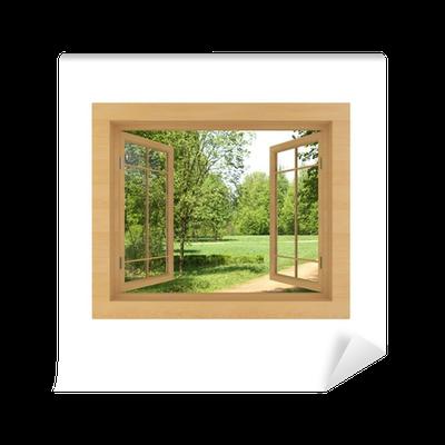 fotomural est ndar vista de la ventana aislado en un blanco pixers vivimos para cambiar. Black Bedroom Furniture Sets. Home Design Ideas