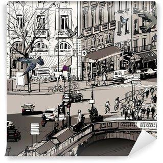 Fotomural Estándar Vista sobre Saint Michel puente en París