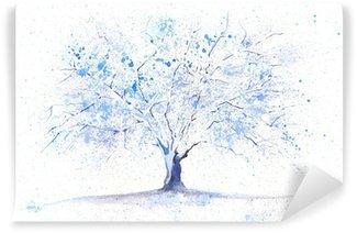Fotomural Estándar Watercolor winter tree