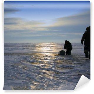 Fotomural Estándar Winter pesca