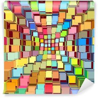 Vinyl-Fototapete 3d abstrakt fragmentierten bunten Muster