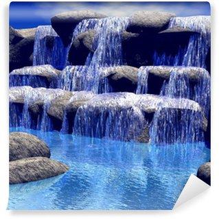 Vinyl-Fototapete 3d Wasserfall