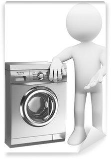 Moderne Waschmaschine poster 3d weiße menschen moderne waschmaschine pixers wir