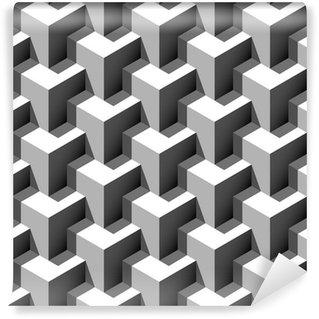 Vinyl-Fototapete 3D-Würfel-Muster