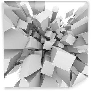 Vinyl-Fototapete Abstract 3D Würfel explodieren Hintergrund.