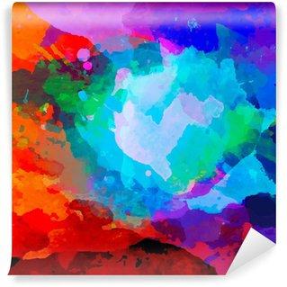 Vinyl-Fototapete Abstract Aquarell Palette der Farben der Mischung