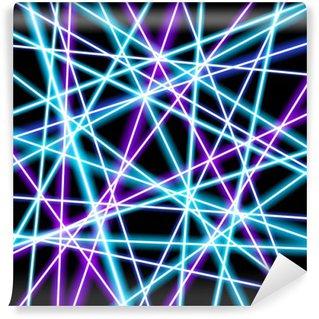 Vinyl-Fototapete Abstract Vector Hintergrund, mehr leuchtende Linien, Geometrie, Technologie, Neon Tapete