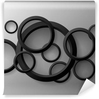 Vinyl-Fototapete Abstrakt Geometrische 3D Design, Vektor-Illustration Hintergrund