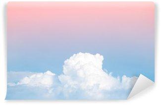 Vinyl-Fototapete Abstrakt weichen Himmel Wolke mit Steigung Pastell Jahrgang Farbe für hintergrund verwenden