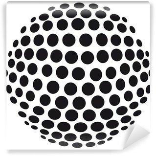 Vinyl-Fototapete Abstrakte 3D-Kugel aus Kreisen - freigestellt