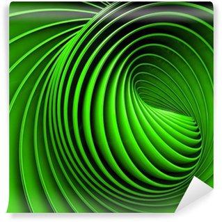 Vinyl-Fototapete Abstrakte 3D-Spirale oder wirbeln in grün getönten