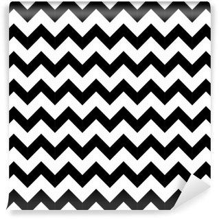 Vinyl-Fototapete Abstrakte geometrische Zick-Zack-nahtlose Muster. Vektor