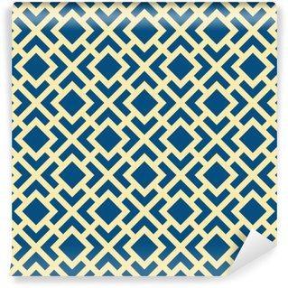 Vinyl-Fototapete Abstrakte Nahtlose geometrische Kunst Deco Gitter Vektor-Muster