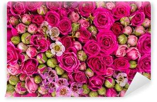 Vinyl-Fototapete Abstrakter Hintergrund von Blumen