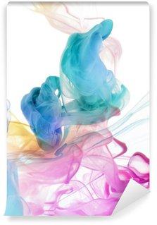Vinyl-Fototapete Acrylfarben in Wasser. Abstrakt Hintergrund.