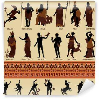 Vinyl-Fototapete Alle 12 griechischen Götter und Antike Mythologie