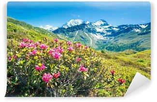 Vinyl-Fototapete Alpenpanorama