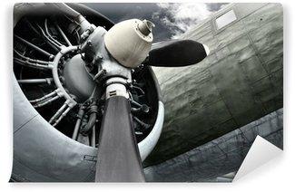 Vinyl-Fototapete Altes Flugzeug aus der Nähe