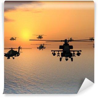 Vinyl-Fototapete Apache-Hubschrauber