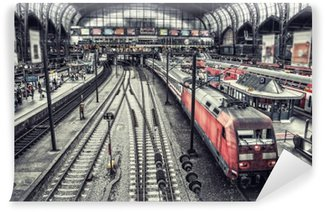 Vinyl-Fototapete Bahnhof