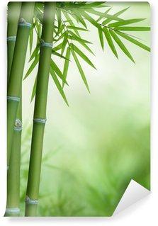 Vinyl-Fototapete Bambus-Baum mit Blättern