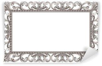 Vinyl Fototapete Barockrahmen durchbrochene Silber, italienischen Stil