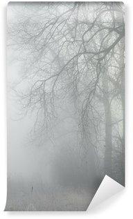 Vinyl-Fototapete Bäume in nebligen Wald