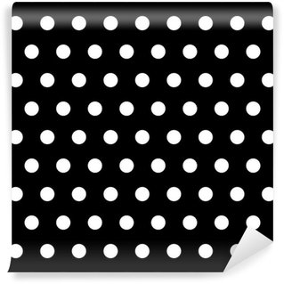 Vinyl-Fototapete Black and White Dots Hintergrund
