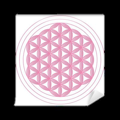 fototapete blume des lebens rosa pixers wir leben. Black Bedroom Furniture Sets. Home Design Ideas