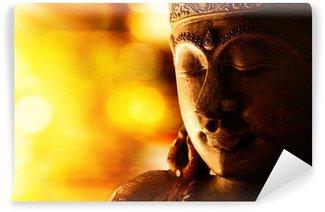 Vinyl Fototapete Bronze Buddha-Statue