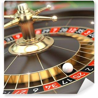 Vinyl Fototapete Casino Roulette - 3d render