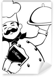 Vinyl Fototapete Chef Linien