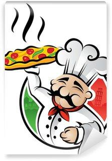 Vinyl Fototapete Chef pizza