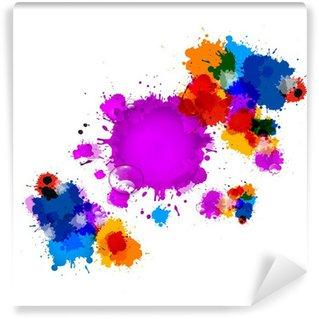 Vinyl-Fototapete Colorful Vector Stains, Blots, Spritzer Hintergrund