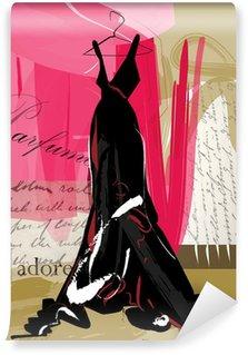 Vinyl-Fototapete Couture-Kleid