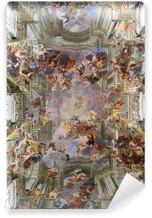 Vinyl-Fototapete Decke der Kirche des heiligen Ignatius