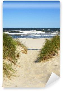 Vinyl Fototapete Der Weg zum Strand