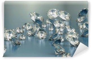Vinyl-Fototapete Diamanten