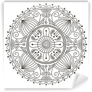 Vinyl-Fototapete Doodle Mandala