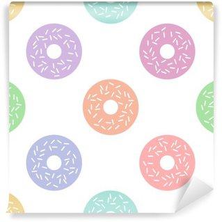 Vinyl-Fototapete Doughnut Muster
