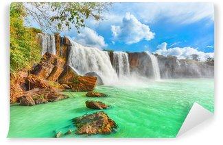 Vinyl Fototapete Dry Nur Wasserfall