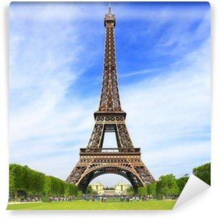 Vinyl-Fototapete Eiffelturm in Paris an einem klaren Frühlingstag