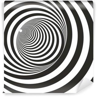 Vinyl-Fototapete Eine schwarz-weiße Erleichterung Tunnel. Optische Täuschung