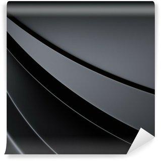 Vinyl-Fototapete Elegante Metallic-Hintergrund mit Kurve Linien