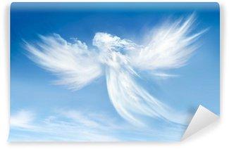 Vinyl-Fototapete Engel in den Wolken
