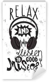 Vinyl-Fototapete Entspannen Sie sich und gute Musik zu hören
