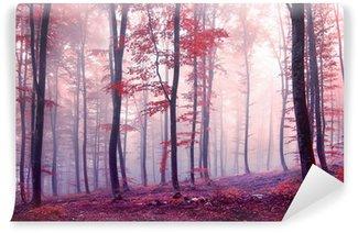 Vinyl-Fototapete Fantasie Herbstfarbe Wald
